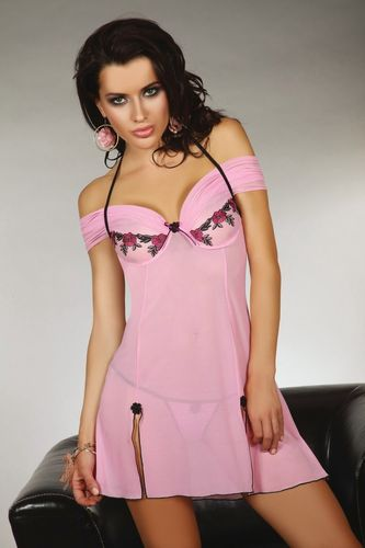 Negligee Set Chameli in Rosa