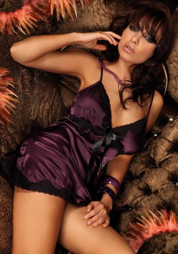 Negligee Set Luna Purple