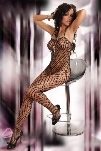 Catsuit Thara in Spinnennetz-Optik