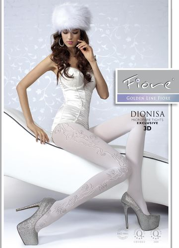 Strumpfhose Dionisa, 3D-Muster