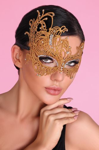 Strass Augenmaske M0011 in Gold